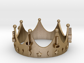 Geekings Crown in Polished Gold Steel