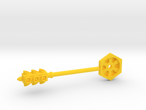 Lights Out - 5mm Traffic Light/Club Weapon  in Yellow Strong & Flexible Polished