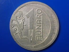 1 Lunaro Sterling 2013, age of aquarius, coin. in Raw Silver