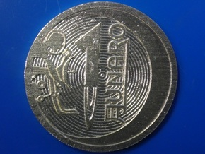 """1 """"Lunaro sterling 2013"""" coin in Raw Silver"""