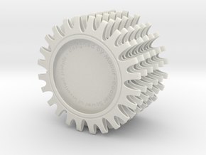 Coaster of inverted petals x6 in White Strong & Flexible