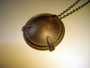 Shield Necklace Pendant in Stainless Steel