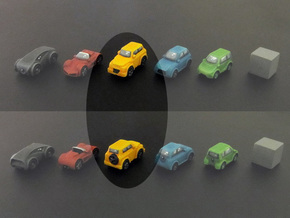 Miniature cars, SUV model (8pcs) in Yellow Strong & Flexible Polished