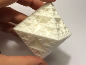 Sierpinski Octahedron Large in White Strong & Flexible
