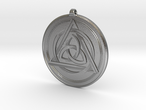 Double-sided Celtic Knot Pendant~44mm (1 3/4 inch) in Raw Silver