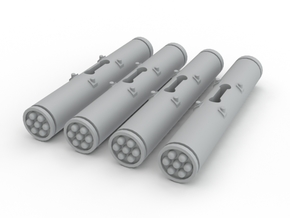 Dragonfy/Locust Small Rocket Pods (4) in White Strong & Flexible Polished