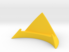 iPhone 5 Desk Stand in Yellow Strong & Flexible Polished
