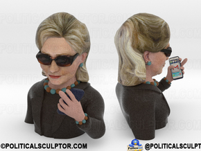 Hillary Clinton Meme in Full Color Sandstone