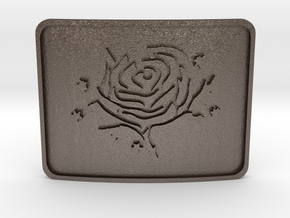 Cold Roses Belt Buckle in Stainless Steel