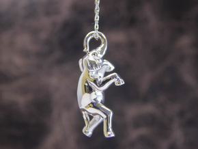 Elephant Pendant in Polished Silver