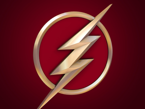 The Flash - Chest Bolt (TV Flash) in White Strong & Flexible