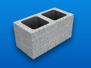1:12 Scale Cinder Block (end type) in White Strong & Flexible