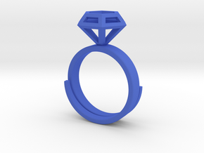 Diamond Ring US 7 3/4 in Blue Strong & Flexible Polished