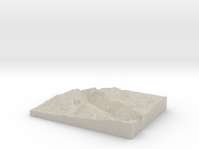 Model of Red Rock Canyon in Sandstone