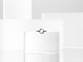 Circle Illusion Ring in Polished Bronze