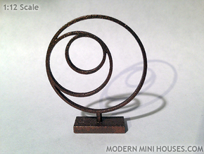 3 Circle Metal Art 1:12 scale modern art sculpture in Stainless Steel