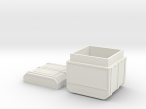 FTM Tall Square Ammo in White Strong & Flexible