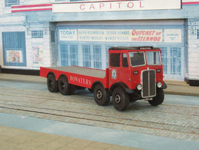 """1 :43 AEC Mammoth Major Mk 1 """"Bowater"""" c1934 in White Strong & Flexible Polished"""