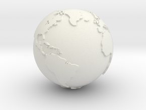 Globe, Hollow, 3/4 Inch Diameter in White Strong & Flexible