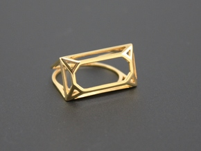 Wire Emerald Ring - US Size 08 in 18k Gold Plated