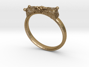 Dalmatio Ring in Polished Gold Steel