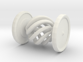 Shapeways Spinning Spiral Hypnosis Car in White Strong & Flexible