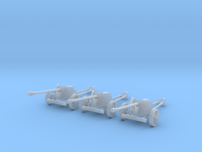 1/87 H0-scale Pak40 anti tank gun set of 3 in Frosted Ultra Detail