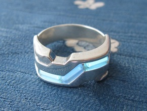 US5.5 Ring XXI: Tritium (Silver) in Polished Silver