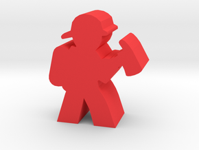 Firefighter Meeple With Axe in Red Strong & Flexible Polished