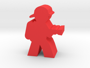 Firefighter Meeple, With Hose in Red Strong & Flexible Polished