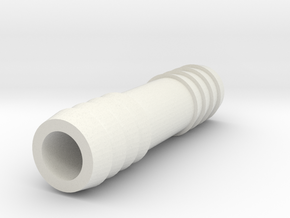 1/2 Inch Hose Barb in White Strong & Flexible