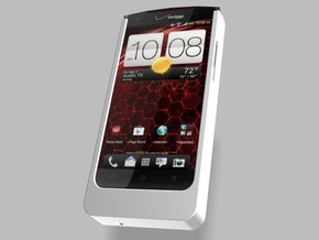 HTC Droid DNA 5000mah Charger with USB Out in White Strong & Flexible