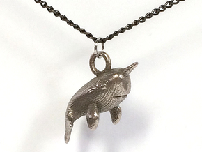 Narwhal Necklace Pendant in Stainless Steel