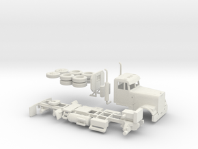 1/87 Freightliner Classic Day Cab  in White Strong & Flexible