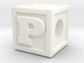 "Name Pieces; Letter ""P"" in White Strong & Flexible Polished"