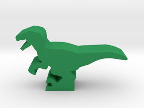 Dino Meeple, Velociraptor in Green Strong & Flexible Polished