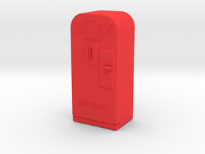 Coke Machine - Qty (1) G 22.5:1 Scale in Red Strong & Flexible Polished