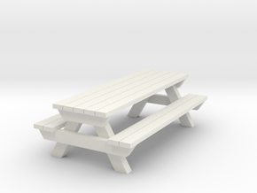 Picnic Table - G 22.5 : 1 scale  in White Strong & Flexible