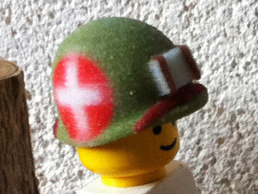 US MARINE M1 HELMET WWII PACIFIC WAR FOR LEGO :  R in Full Color Sandstone