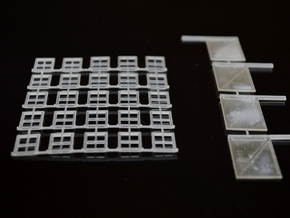 N-Scale Box & Crate Factory Windows & Doors in Frosted Ultra Detail