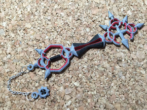 KH Keyblade Bonds Of Flame Pendant in White Strong & Flexible