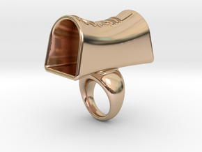 Message of love 14 in 14k Rose Gold Plated