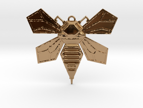 Hornet Solid Wings pendant in Polished Brass