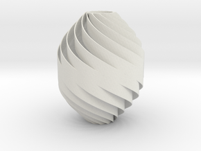 Spiral-Twisted Decor Small Size (.7mm wall) in White Strong & Flexible