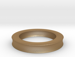 0137 Astroid Torus (R=8, r=2, θ=pi/4) 5cm in Matte Gold Steel