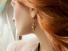 Fractal Earrings - El corazón del matemático in 18k Gold Plated