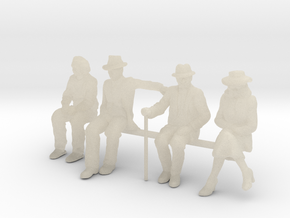 1:48 scale SEATED FIGURE PACK in White Acrylic