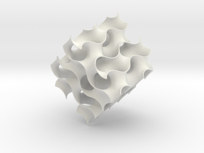 Gyroid cube - 8 unit cells in White Strong & Flexible