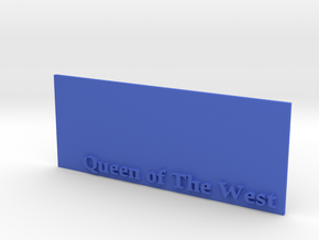 Base for 1/600 Queen Of The West in Blue Strong & Flexible Polished