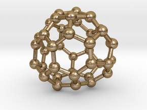 0150 Fullerene C40-38 d2 in Polished Gold Steel